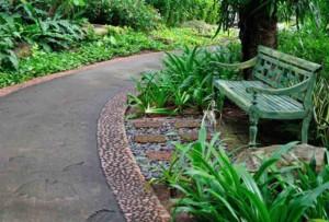 pavimentos de hormig'on impreso para jardines