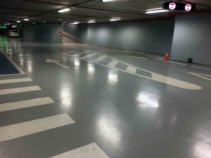 pavimento pulido en garaje